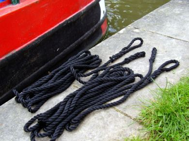 30ft Mooring Ropes, Pair, 12mm